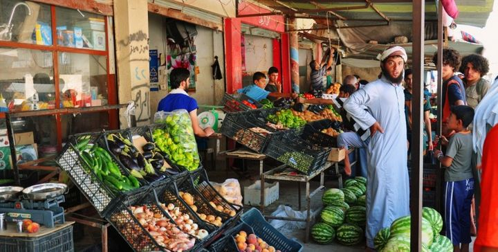 An Islamic State photo report purports to show a market in Iraq.