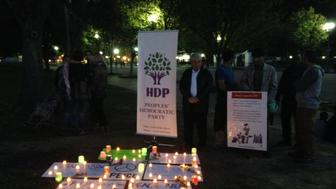 A Kurdish-organized vigil at the White House for the victims of Saturday's attacks in Turkey doubled as a political rally against the current Turkish government.