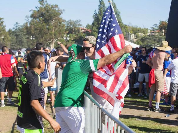 Scenes from the tailgate border fence at the epic U.S.-Mexico soccer game