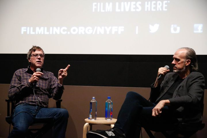 Todd Haynes, left, speaks with New York Film Festival director of programming Kent Jones on Oct. 10, 2015.