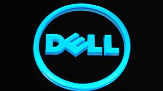 A Dell Inc. logo is seen on display at the Mobile World Congress in Barcelona, Spain, on Thursday, Feb. 17, 2011. The Mobile World Congress takes place at Fira de Barcelona conference center Feb. 14-17. Photographer: Denis Doyle/Bloomberg via Getty Images