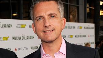 """FILE - In this May 6, 2014 file photo, Bill Simmons arrives at the world premiere of """"Million Dollar Arm"""" at El Capitan Theatre in Los Angeles. HBO says it has struck a multi-year, multi-platform deal with the multi-faceted Bill Simmons. Under the deal, which begins in October, HBO will be Simmons exclusive television home, the network said Wednesday, July 22, 2015. (Photo by Chris Pizzello/Invision/AP, File)"""