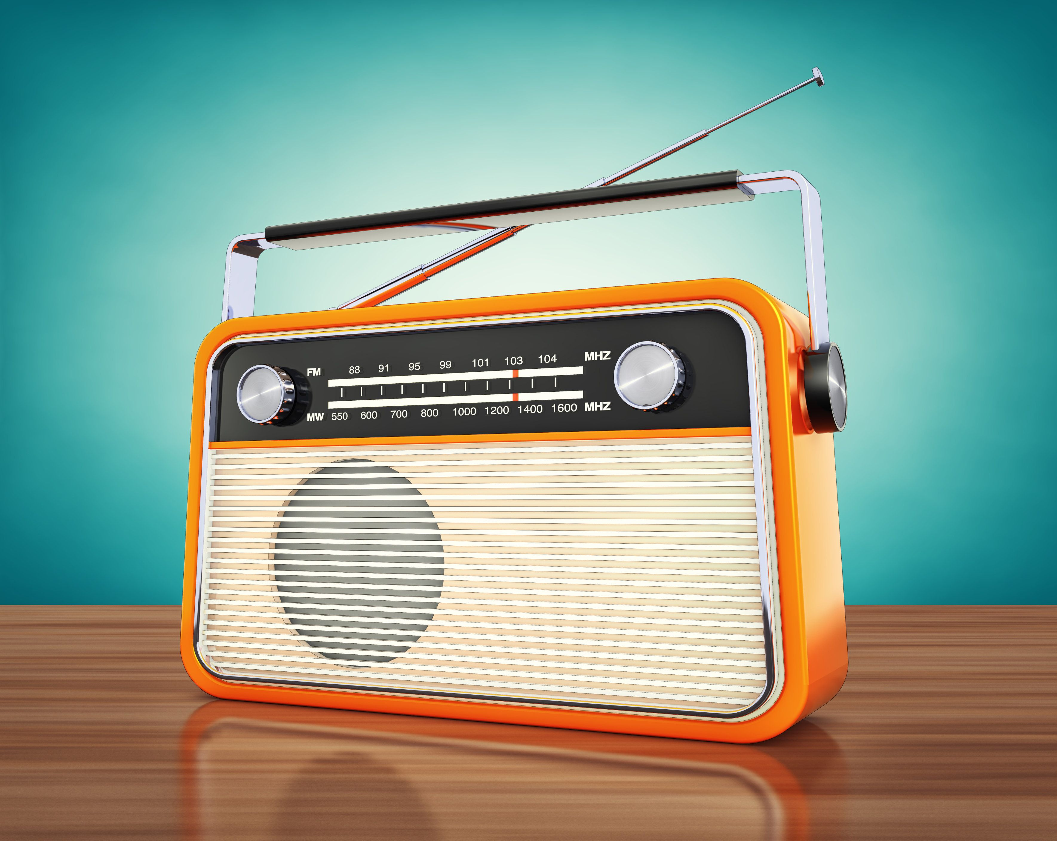 3d rendering of a vintage radio