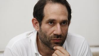LOS ANGELES, CALIFORNIA - APRIL 3, 2012. Dov Charney, Senior Partner of American Apparel, is photographed at the factory in downtown Los Angeles on April 3, 2012.  (Photo by Gary Friedman/Los Angeles Times via Getty Images)