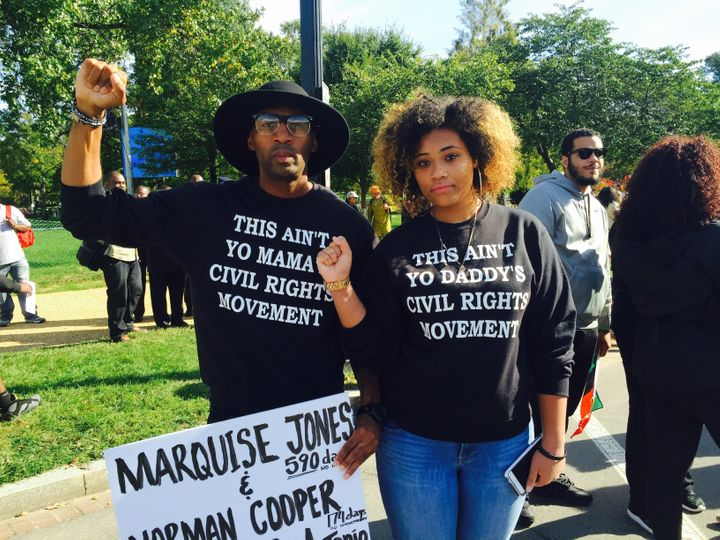 Mike Lowe and Cleo Jeffryes both called for justice, an end to police violence and acknowledgement from older generations tha