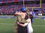 Military Dad Surprises Family In Heartwarming Football Field Reunion