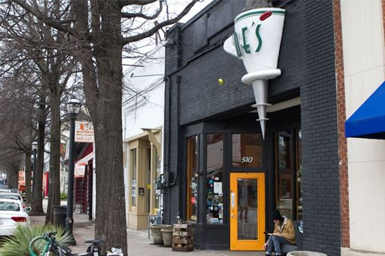 Joe's East is a friendly coffee shop with a certain lived-in quality in the heart of East Atlanta Village.