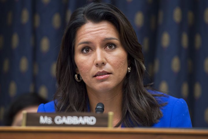 Rep. Tulsi Gabbard (D-Hawaii) says she was disinvited from Tuesday's debate, while the DNC says she was just asked to ke