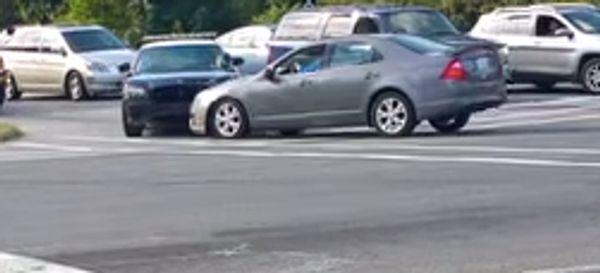 Driver Goes Berserk, Does Doughnuts, Rams Police