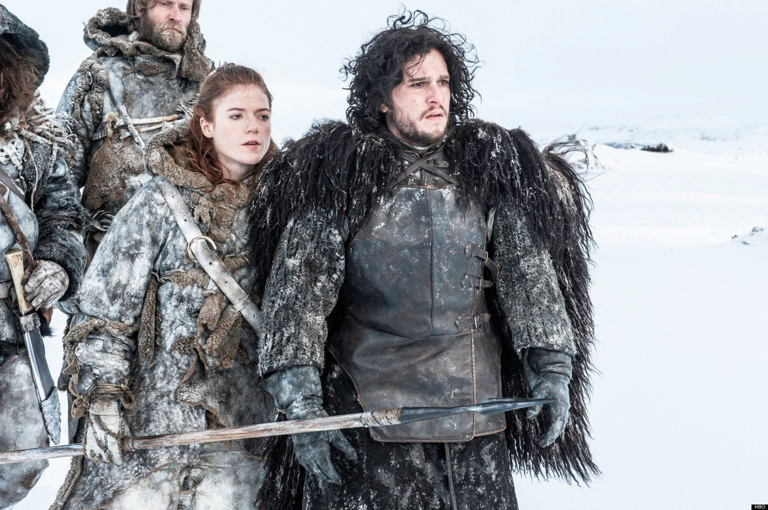 """Kit Harington and Rose Leslie appear in HBO's """"Game of Thrones."""""""