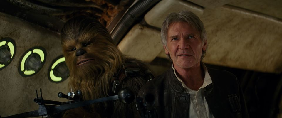 Chewbacca and Han Solo.