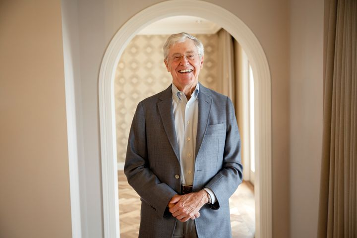 Multibillionaire Charles Koch claims that he's disclosed all of his political donations, despite his involvement in an&n