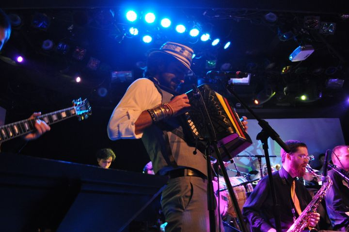 Gregorio Uribe performs at Le Poisson Rouge in New York City.