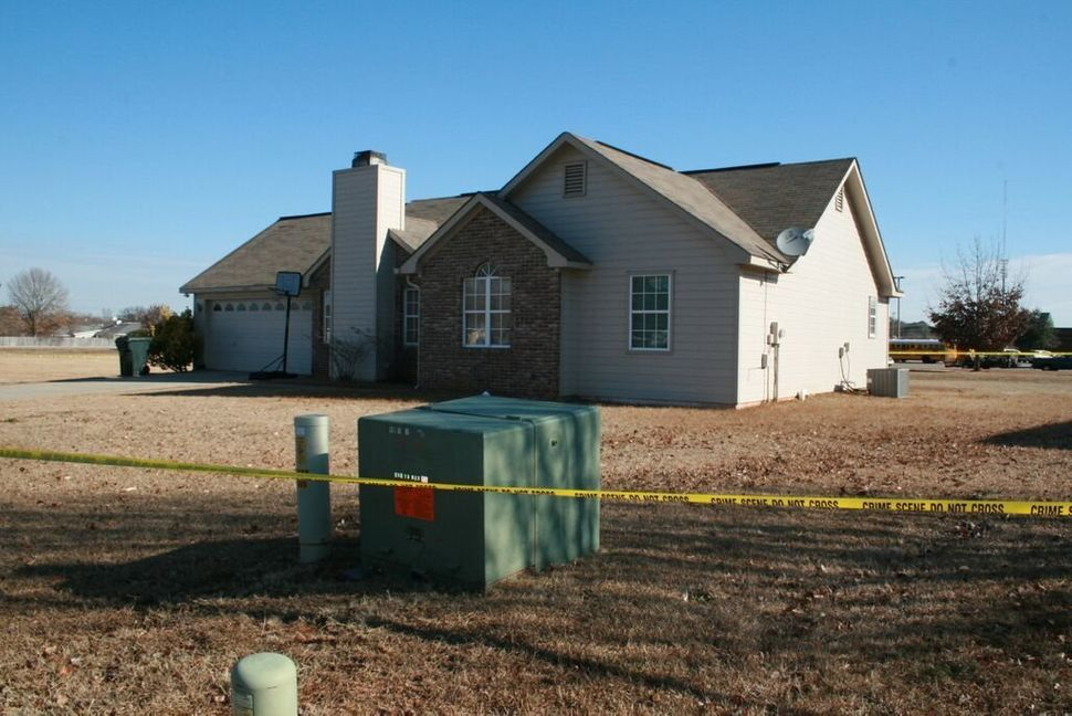 The house in Warner Robins, Georgia, that was burglarized on the morning of Jan. 24, 2011.