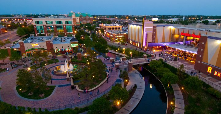 Bricktown, in downtown Oklahoma City, be a warehouse district.