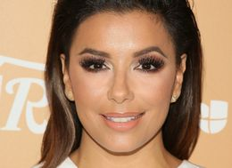 Eva Longoria Hits The Beach In A Big Hat And Tiny Bikini