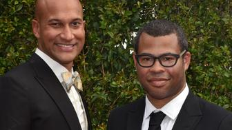 LOS ANGELES, CA - SEPTEMBER 12: Keegan-Michael Key and Jordan Peele attend the 2015 Creative Arts Emmy Awards at Microsoft Theater on September 12, 2015 in Los Angeles, California.  (Photo by C Flanigan/Getty Images)