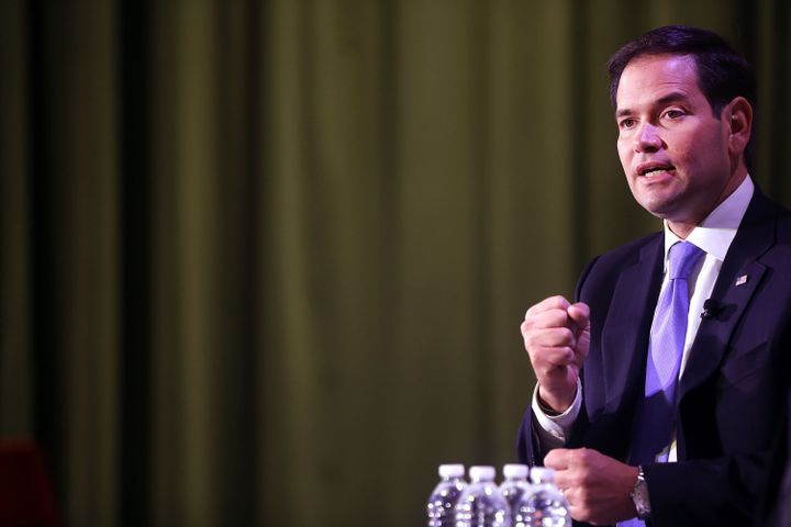 Sen. Marco Rubio (R-Fla.) at Civic Hall about the 'sharing economy' on Oct. 6 in New York City (file). Reports suggest that R