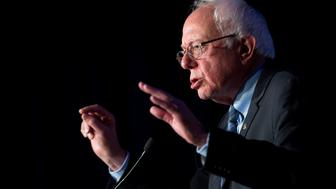 Senator Bernie Sanders, an independent from Vermont and 2016 Democratic presidential candidate, speaks at the Congressional Hispanic Caucus Institute conference in Washington, D.C., U.S., on Wednesday, Oct. 7, 2015. While next Tuesday's first Democratic presidential debate will probably lack the name-calling and sharp jabs of the Republican face-offs, there's still potential for strong disagreements between the party's leading contenders. Photographer: Andrew Harrer/Bloomberg via Getty Images