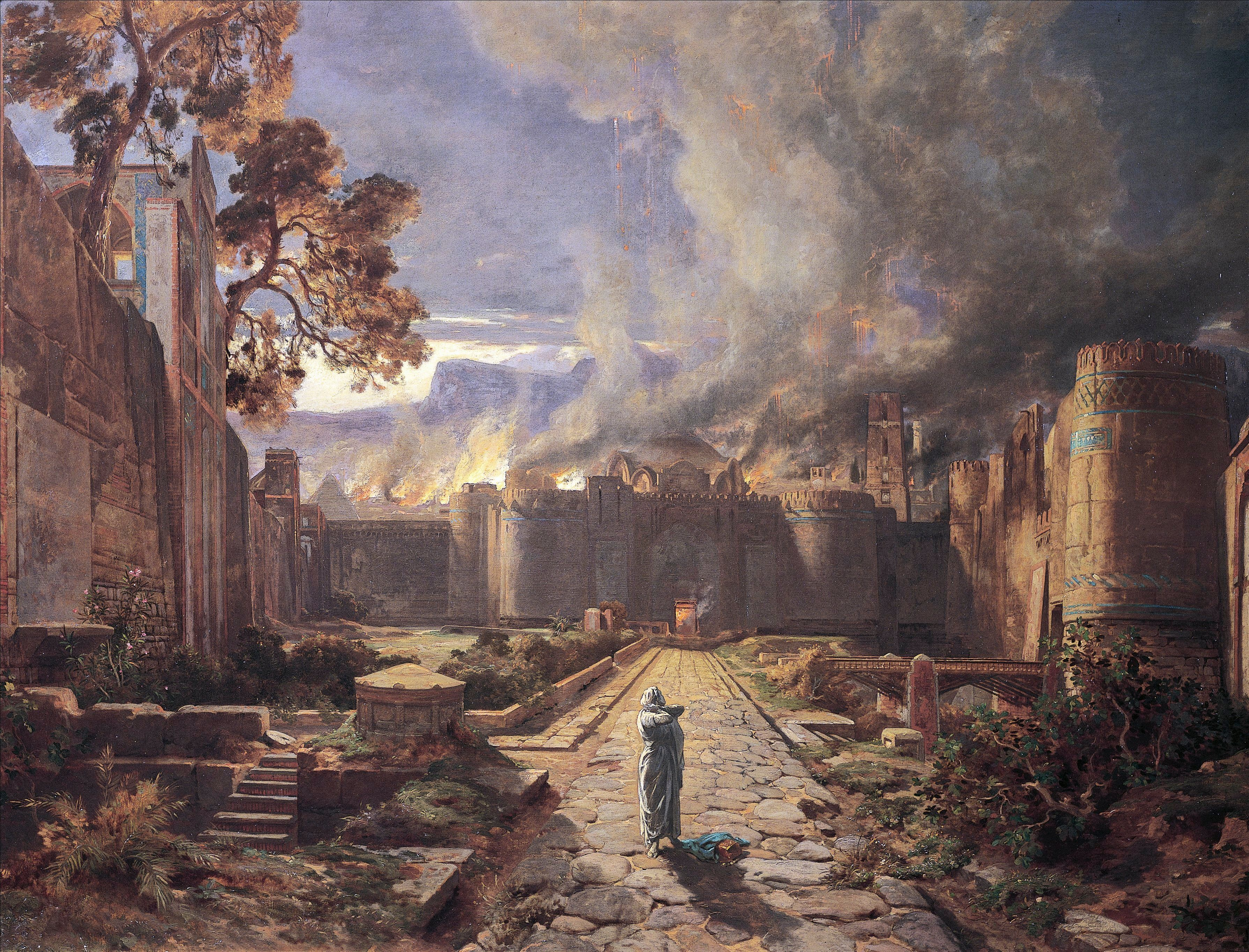 The destruction of Sodom and Gomorrah, by Jules-Joseph-Augustin Laurens (1825-1901).