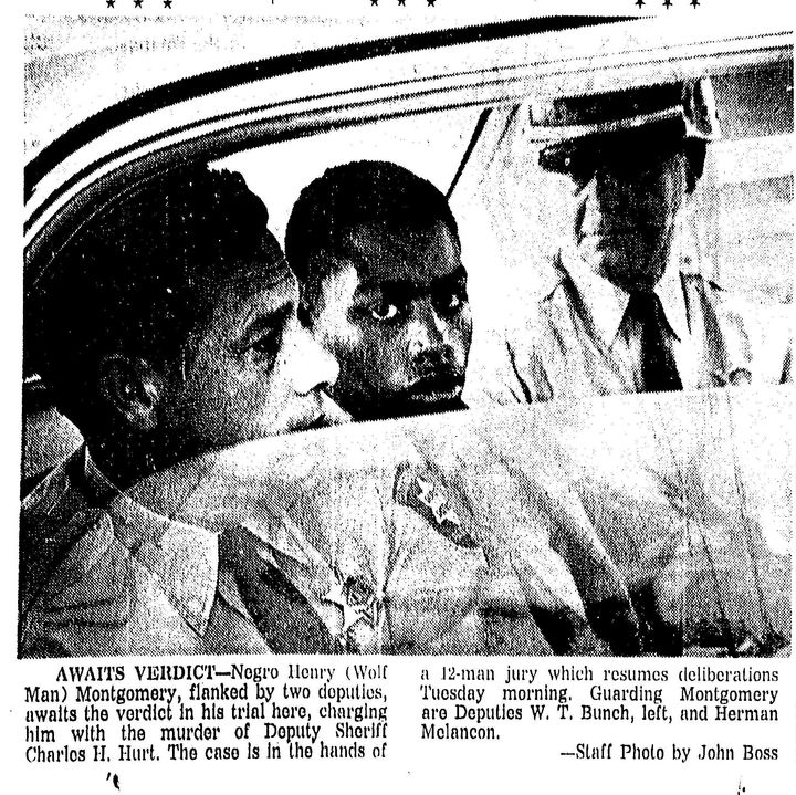 A file photo from a Baton Rouge, Louisiana, paper following the trial of 17-year-old Henry Montgomery, convicted for the 1963