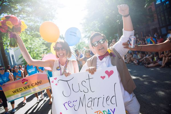 """""""This one was fromDC Pride last year — we did a vow renewal with Nicole and Rose and then they marched in the Pri"""