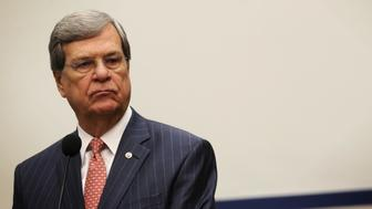 WASHINGTON, DC - MAY 14:  Former U.S. Senate Majority Leader Trent Lott (R-MS) speaks during a discussion May 14, 2015 at Rayburn House Office Building on Capitol Hill in Washington, DC. The Council on Competitiveness and Squire Patton Boggs held a discussion on 'Long-Term Transportation Funding: Imperative to US Competitiveness and Leadership in the Global Marketplace.'  (Photo by Alex Wong/Getty Images)