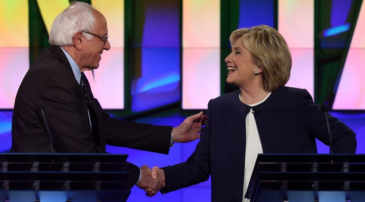 Sen. Bernie Sanders (I-Vt.) and former Secretary of State Hillary Clinton agreed Tuesday night that it's time to stop talking
