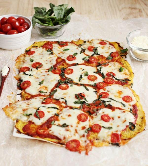 "<strong>Get the <a href=""http://www.abeautifulmess.com/2014/03/spaghetti-squash-pizza-crust.html"" target=""_blank"">Spaghetti S"