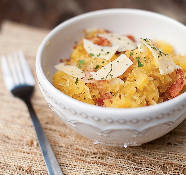 squash squash bacon and goat cheese pasta with basil spaghetti squash ...