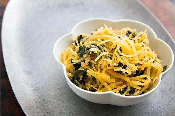 """<strong>Get the<a href=""""http://www.simplyrecipes.com/recipes/spaghetti_squash_and_chard_saute/"""" target=""""_blank""""> Spaghetti Sq"""