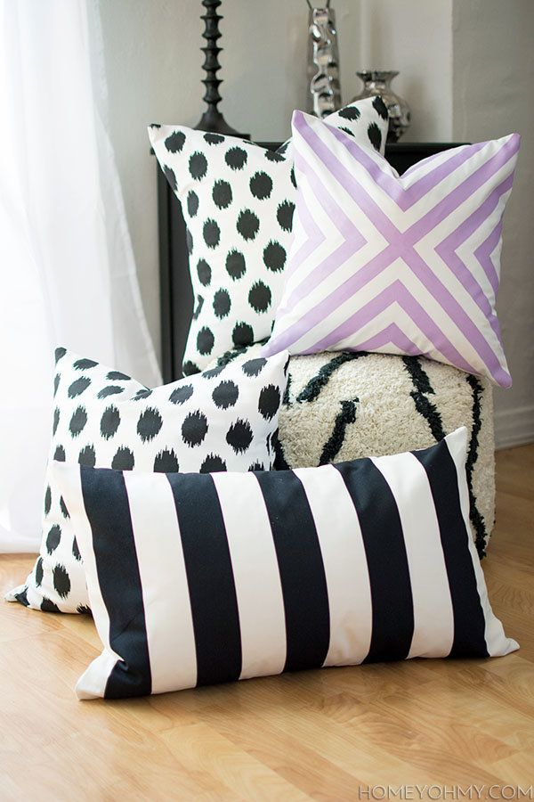 "<a href=""http://www.homeyohmy.com/diy-sew-pillow-covers/"">Give your bedroom a boost with this no sew pillow project tutorial"