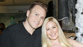 LOS ANGELES, CA - JULY 28:  Spencer Pratt (L) and Heidi Montag attend the US launch of MeMe London held at DiLascia on July 28, 2015 in Los Angeles, California.  (Photo by Michael Tran/WireImage)