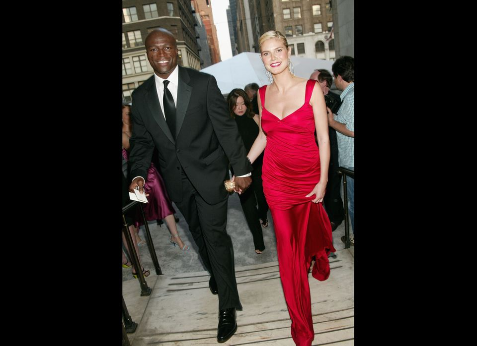 Musician Seal and model Heidi Klum attend the '2004 CFDA Fashion Awards' at the New York Public Library June 7, 2004 in New Y