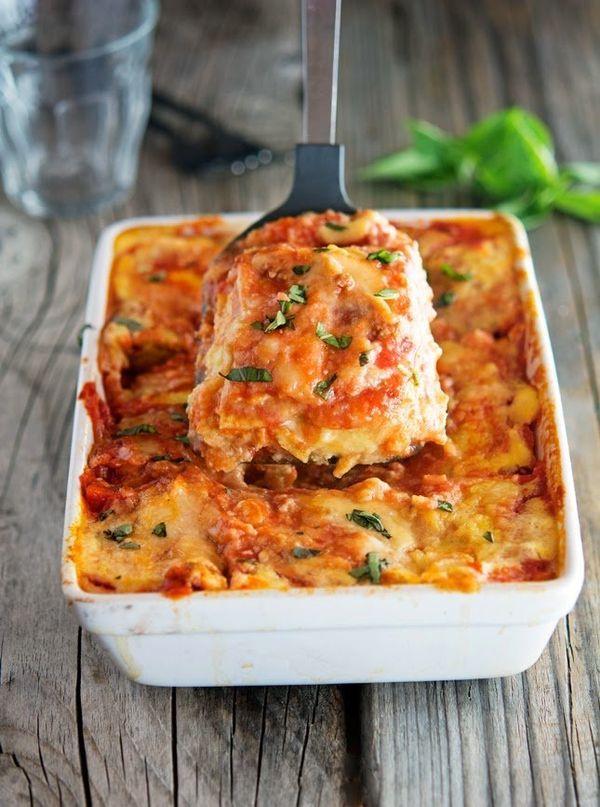 "<strong>Get the <a href=""http://www.theironyou.com/2014/09/cauliflower-noodle-lasagna.html"" target=""_blank"">Cauliflower Noodl"
