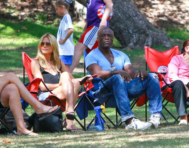 Heidi and Seal supporting their kids at a soccer game last year.