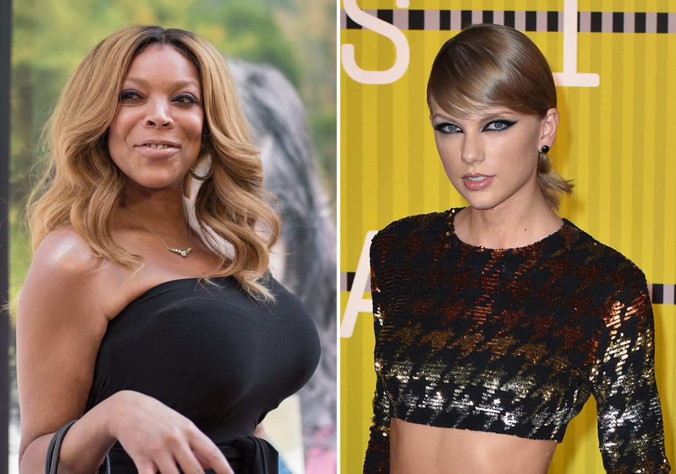 Photo of Wendy Williams by Mike Pont/WireImage; Photo of Taylor Swift by C Flanigan/Getty Images
