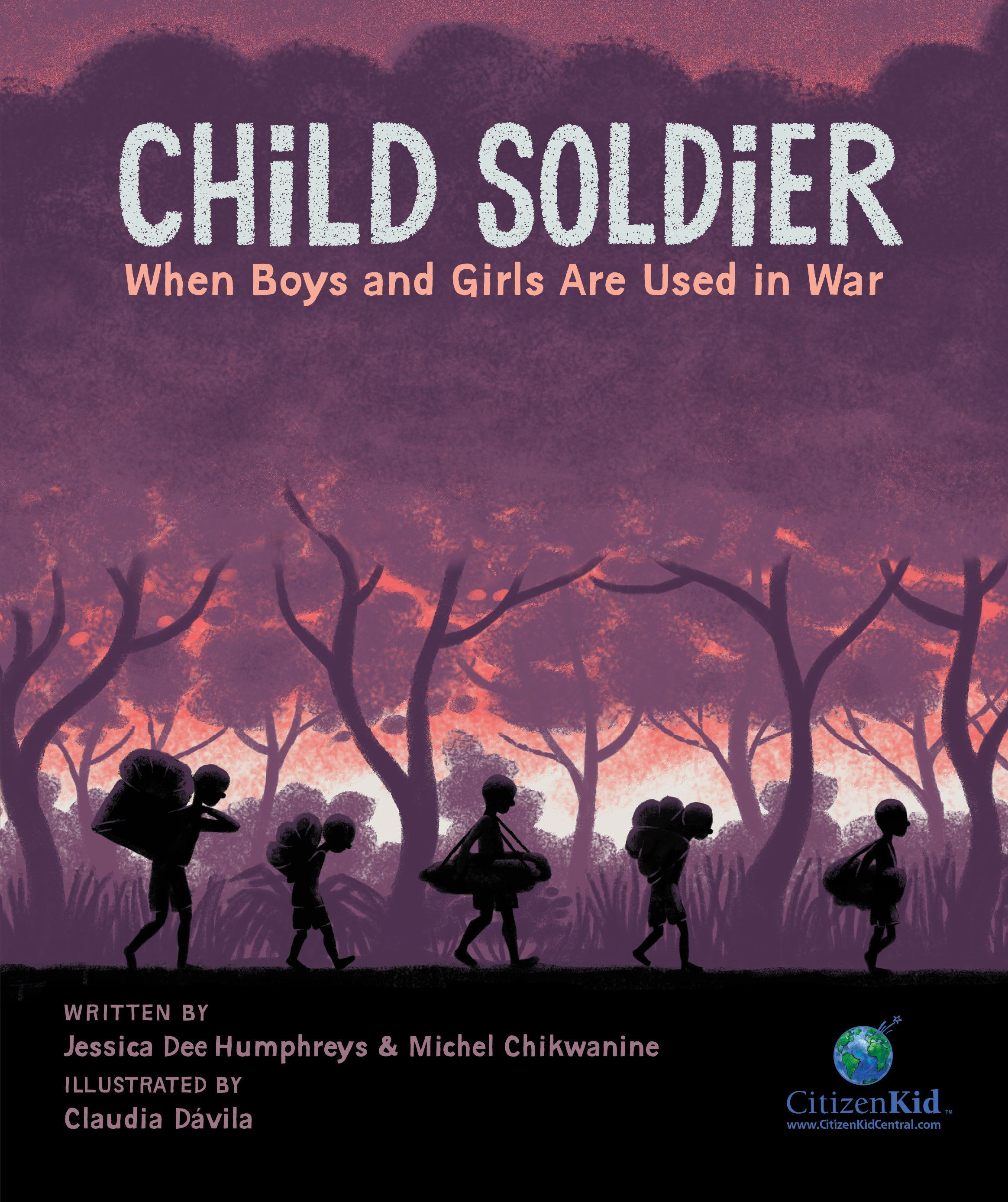 Material from Child Solider: When Boys and Girls Are Used in War used by permission of Kids Can Press. Text (c) 2015 Jessica Dee Humphreys and Michel Chikwanine. Illustrations (c) 2015 Claudia Dávila.