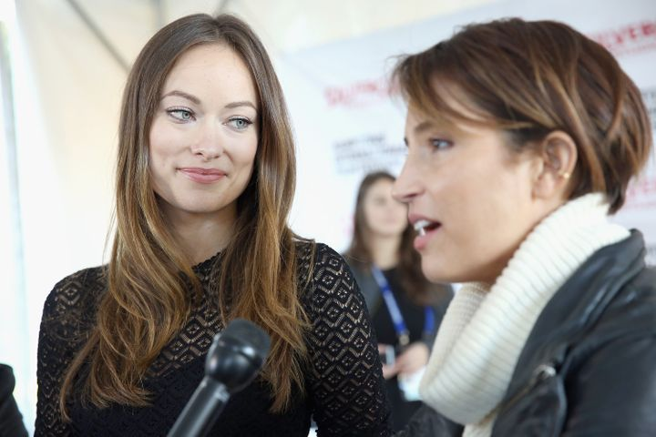 Olivia Wilde and Reed Morano at the Hamptons International Film Festival.
