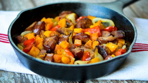 """Sweet potatoes, <a href=""""http://nutritiondata.self.com/facts/vegetables-and-vegetable-products/2667/2"""" target=""""_blank"""">which"""