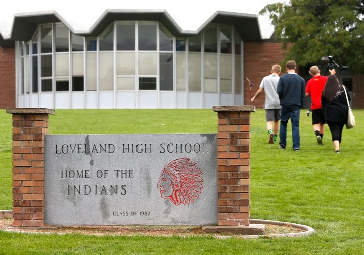 "Loveland High School in Colorado still uses ""Indians"" as its mascot. A new report from the U.S. Department of Educa"