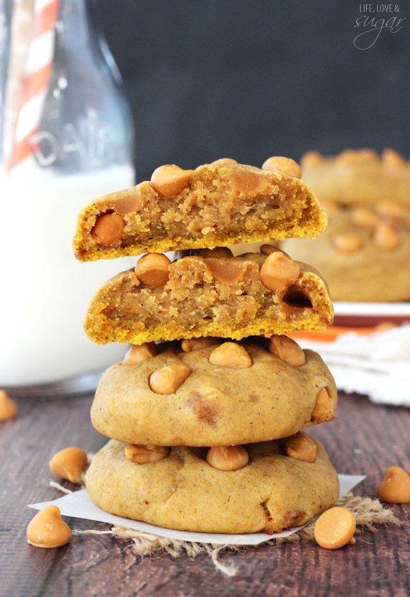 """<strong>Get the <a href=""""http://www.lifeloveandsugar.com/2015/10/09/pumpkin-butterscotch-chip-cookies/"""" target=""""_blank"""">Pumpk"""
