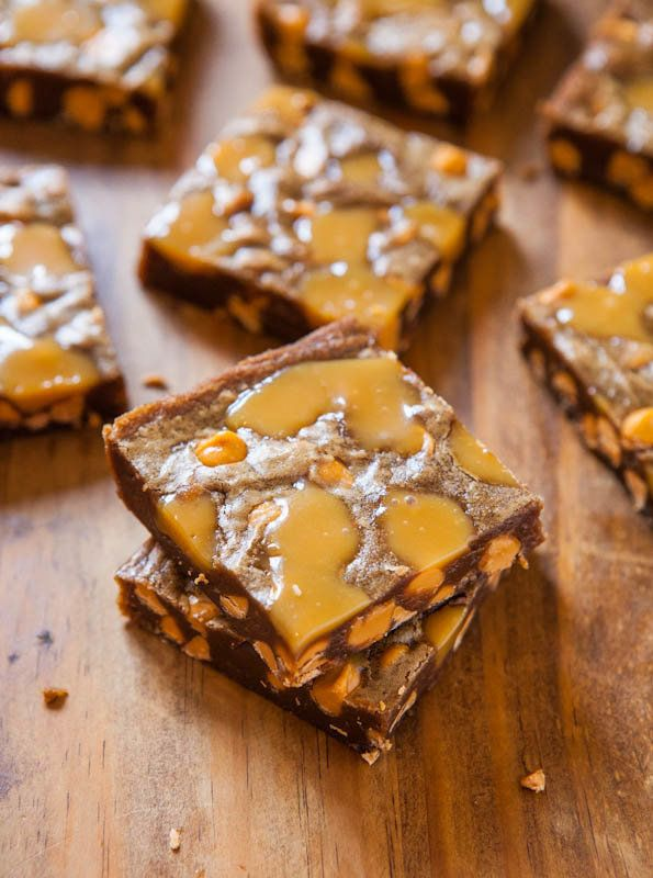 """<strong>Get the <a href=""""http://www.averiecooks.com/2012/12/browned-butter-caramel-and-butterscotch-bars.html"""" target=""""_blank"""