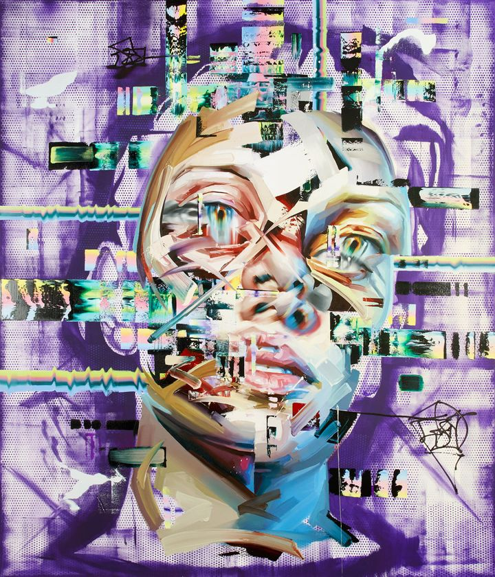 Bower uses an organizing principle he likens to a computer program to create his disjointed portraits.