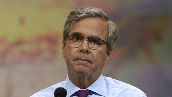 NASHVILLE, TN - APRIL 10:  Former Florida Gov. Jeb Bush speaks during the NRA-ILA Leadership Forum at the 2015 NRA Annual Meeting & Exhibits on April 10, 2015 in Nashville, Tennessee. The annual NRA meeting and exhibit runs through Sunday.  (Photo by Justin Sullivan/Getty Images)