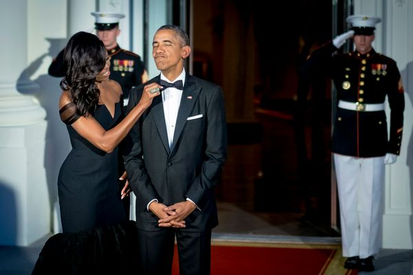 """""""One of the things that attracted me to Barack was his emotional honesty. Right off the bat he said what he felt. There are n"""