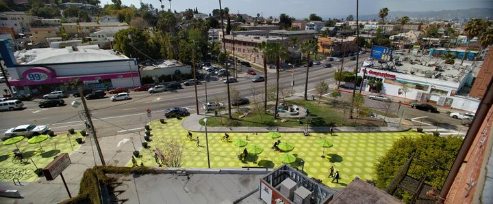 People St. is a Los Angeles project that turns underused parts of streets into public spaces.