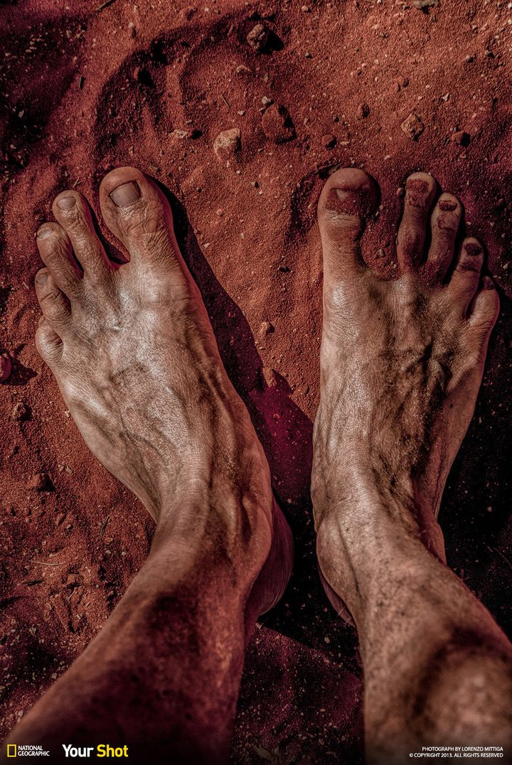 """In """"<a href=""""http://yourshot.nationalgeographic.com/profile/235018/"""">The Oz Dream</a>,"""" a photographer's feet are covered in"""