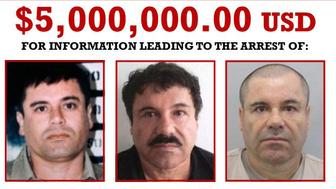 The DEA offers a $5 million reward for information leading to the arrest of 'El Chapo.'