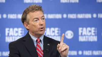 WASHINGTON - SEPTEMBER 20: John Dickerson interviews Republican presidential candidate Sen. Rand Paul (R-KY) on the September 20, 2015 edition of 'Face the Nation.' (Photo by Chris Usher/CBS via Getty Images)